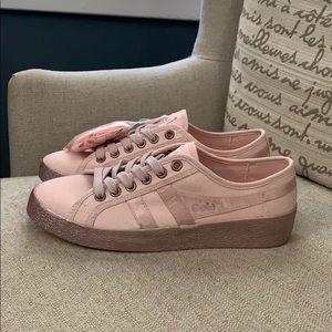 NEW Gola Grace Canvas Sneakers w Satin Pink  Sz 38
